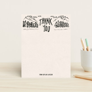 Back To Nature Children's Stationery