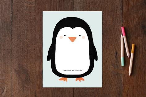Big Penguin Children's Stationery
