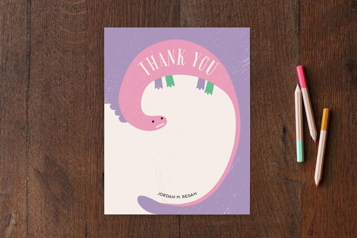 """Little Dinosaur"" - Whimsical & Funny Children's Stationery in Stegosaurus by iamtanya."