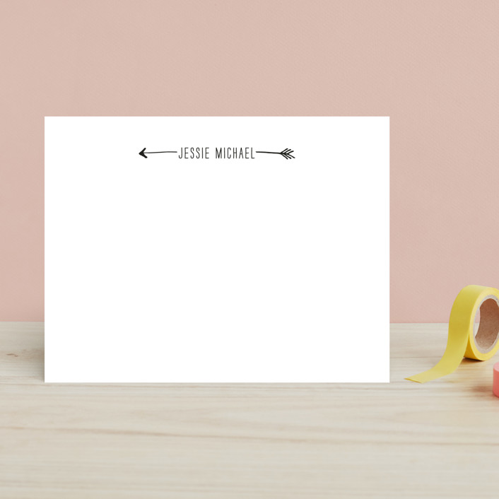 """Bulls Eye"" - Simple, Minimalist Children's Stationery in Arrow by Fig and Cotton."