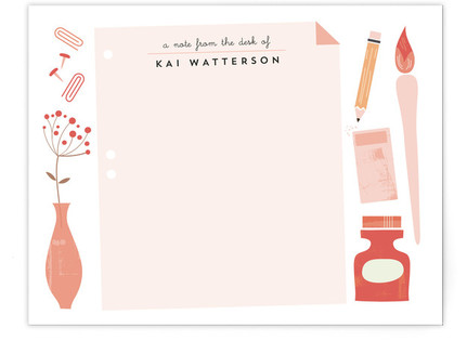 Desk Note Children's Personalized Stationery