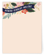This is a colorful kids thank you cards note by Alethea and Ruth called Floral Banner with standard printing on signature in standard.