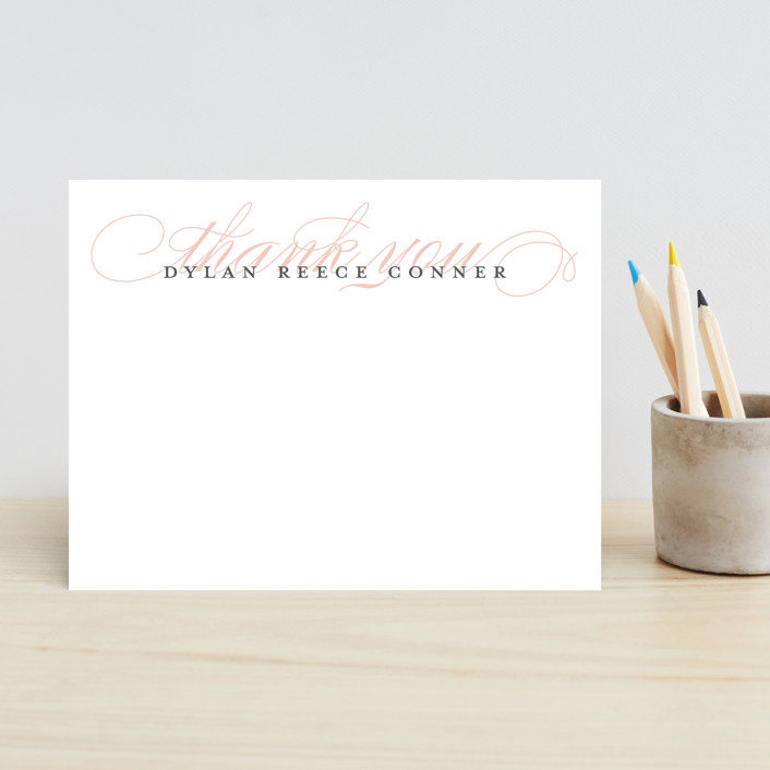 """""""Graceful Entrance"""" - Simple, Classical Children's Stationery in Cotton Candy by Jessica Williams."""