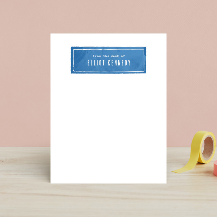 """Simple Nameplate"" - Preppy, Simple Children's Stationery in Sky by Hooray Creative."