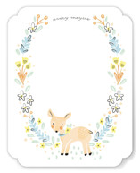 This is a orange kids thank you cards note by Melissa Egan called Little Dear with standard printing on signature in standard.