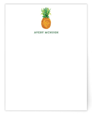 Be A Pineapple Children's Personalized Stationery