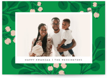This is a green kwanzaa card by Genna Blackburn called Mod Eucalyptus with standard printing on signature in standard.