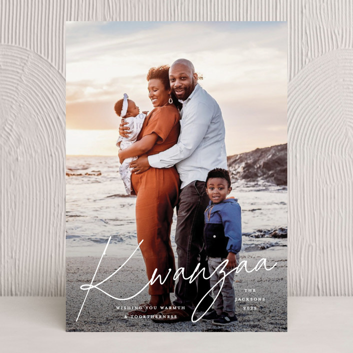 """""""Warmth and Togetherness"""" - Kwanzaa Cards in Pearl by Kristel Torralba."""