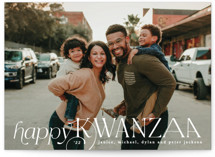This is a white kwanzaa card by Creo Study called Kwanzaa Type with standard printing on signature in standard.