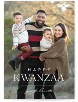 This is a white kwanzaa card by Carolyn MacLaren called Line with standard printing on signature in standard.