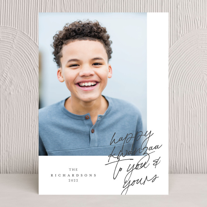 """""""Greeting Note"""" - Kwanzaa Cards in Slate by Grae."""