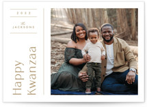 This is a brown kwanzaa card by Bethan called Modern Grid with standard printing on signature in standard.