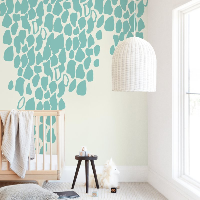 """""""It's Raining Red"""" - Kids Non-custom Wall Murals by rose lindo in beautiful frame options and a variety of sizes."""