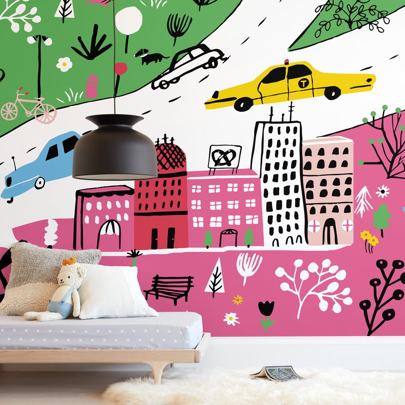 """City State of Mind"" - Kids Non-custom Wall Murals by Jordan Sondler in beautiful frame options and a variety of sizes."