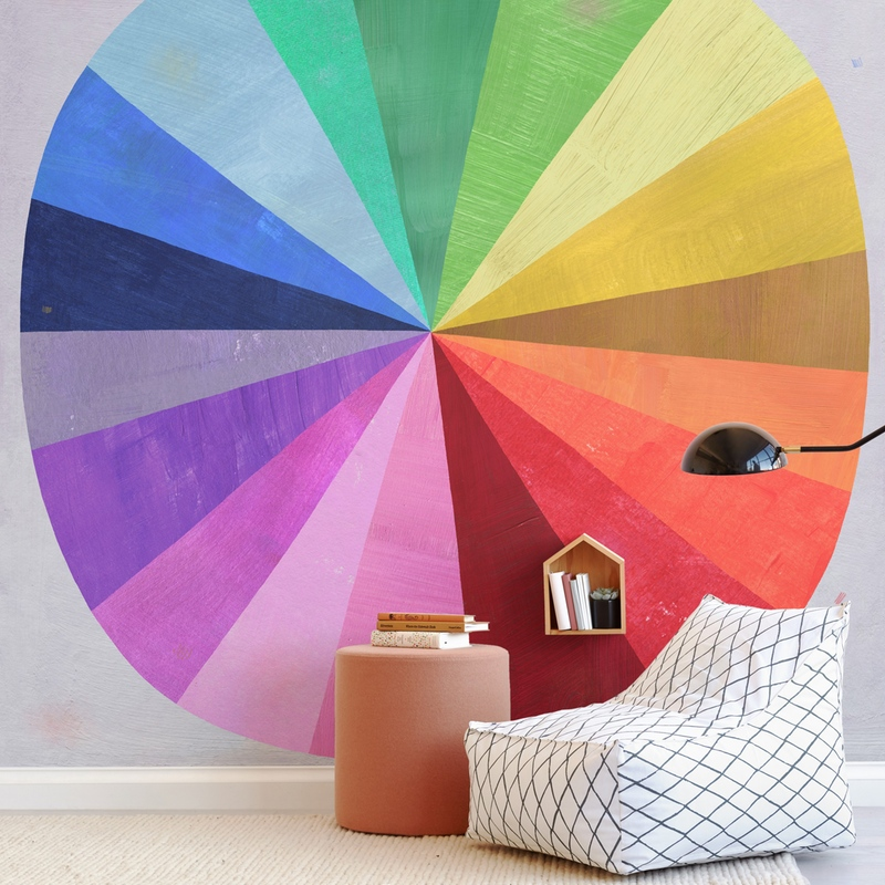 Color Wheel Wall Mural