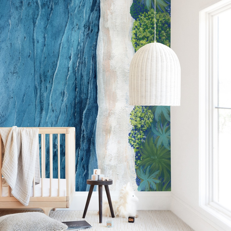 Indigo Sea Wall Mural