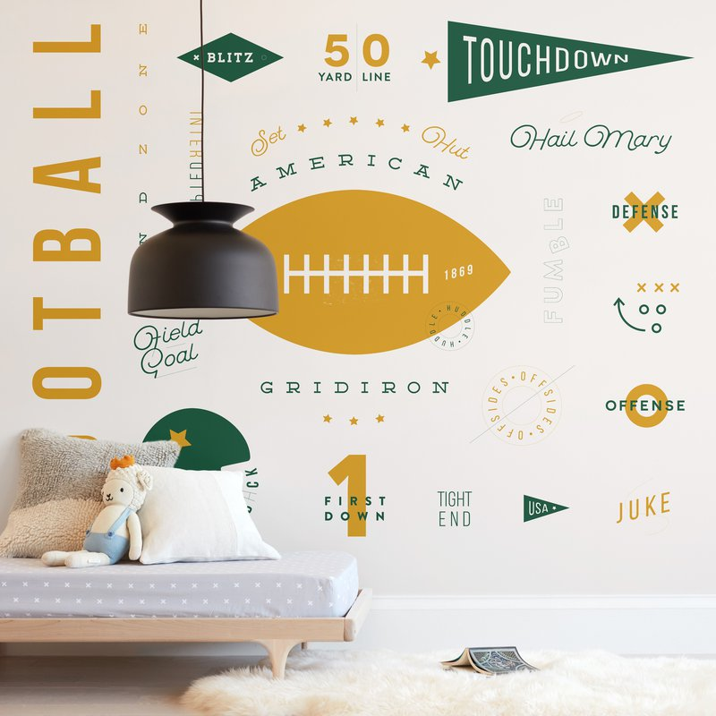 American Football Vocab Wall Mural