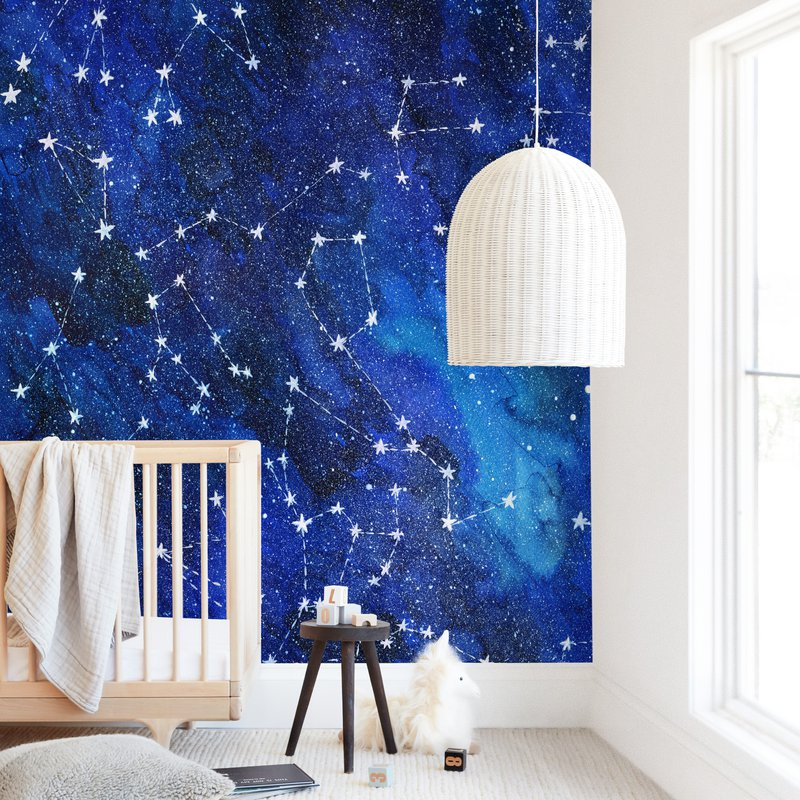 """""""Constellations"""" - Kids Non-custom Wall Murals by Alexandra Dzh in beautiful frame options and a variety of sizes."""