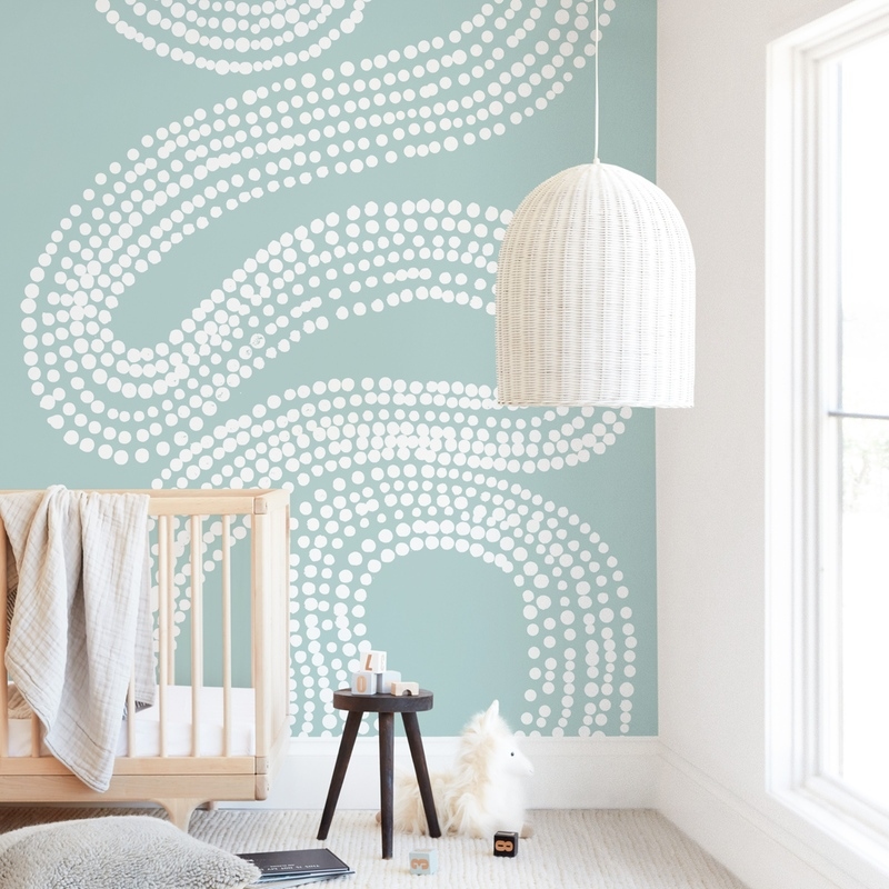 River of Dots Wall Mural
