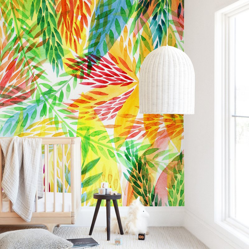 """""""Tropical"""" - Kids Non-custom Wall Murals by Alexandra Dzh in beautiful frame options and a variety of sizes."""