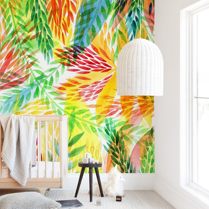 """Tropical"" - Kids Non-custom Wall Murals by Alexandra Dzh in beautiful frame options and a variety of sizes."