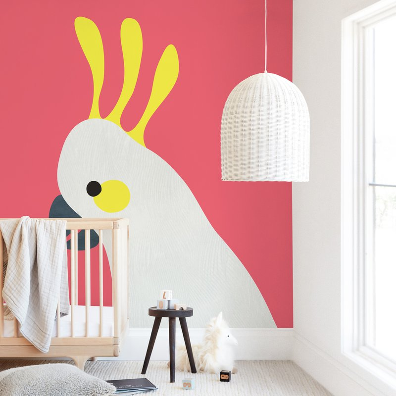 """Hello Cocky! "" - Kids Non-custom Wall Murals by Catherine Culvenor in beautiful frame options and a variety of sizes."