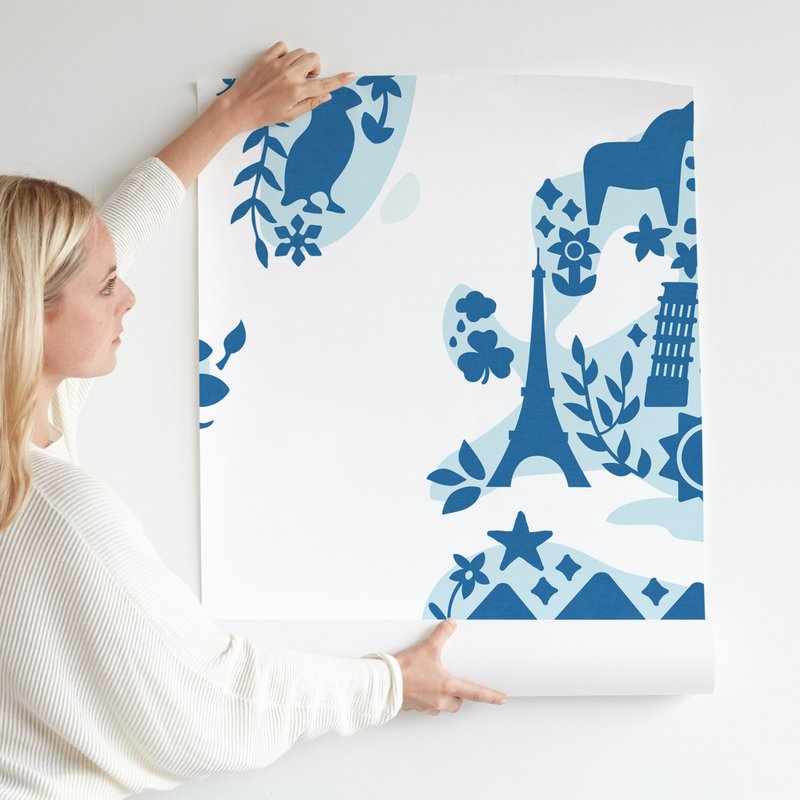 Little Big World Map Kids Wall Murals By Jessie Steury Minted