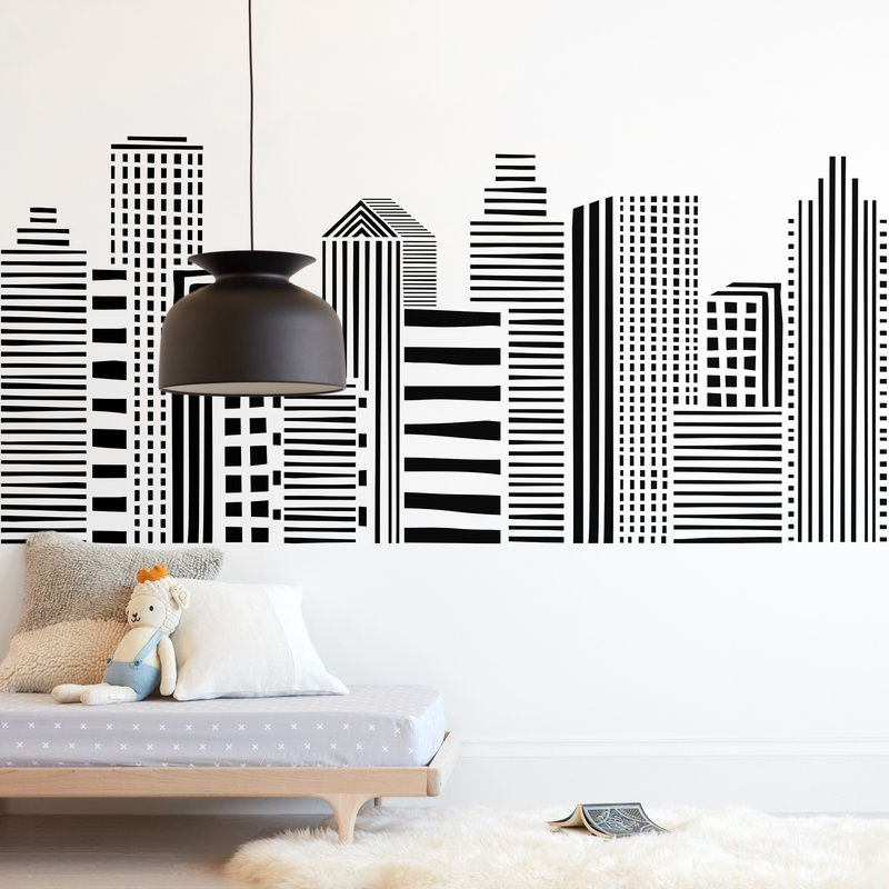 Linear Cityscape Wall Mural