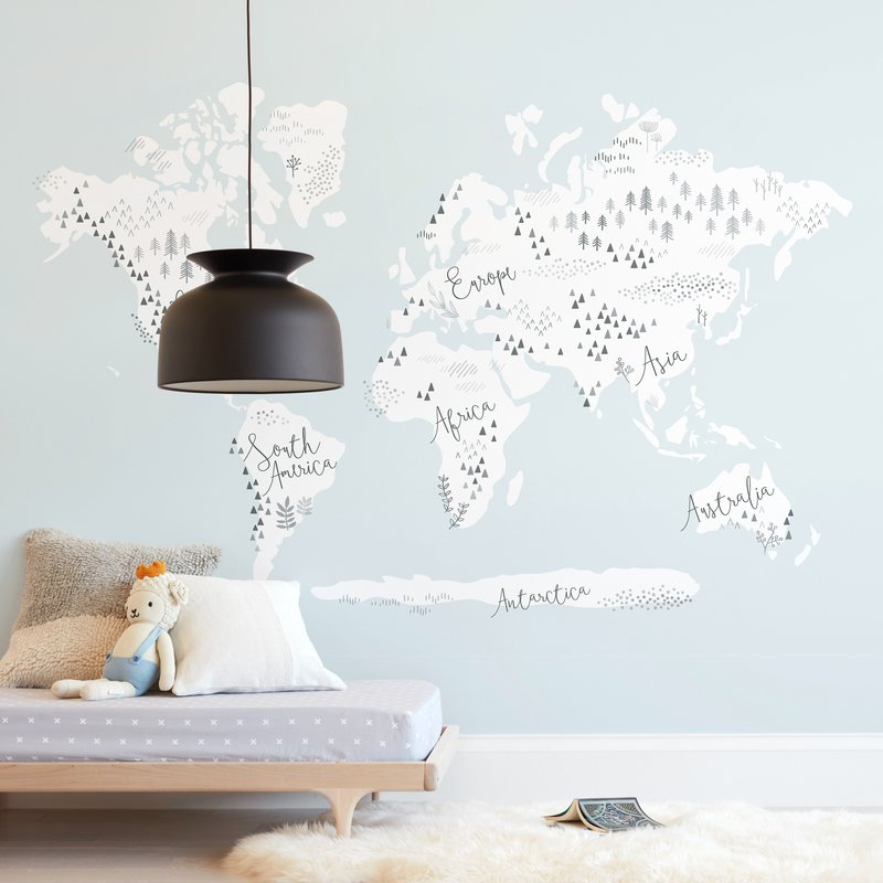Beautiful World Map Wall Mural