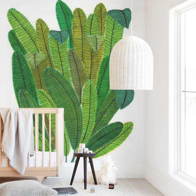 """""""Banana Leaf Bouquet"""" - Kids Non-custom Wall Murals by Madeline Trait in beautiful frame options and a variety of sizes."""