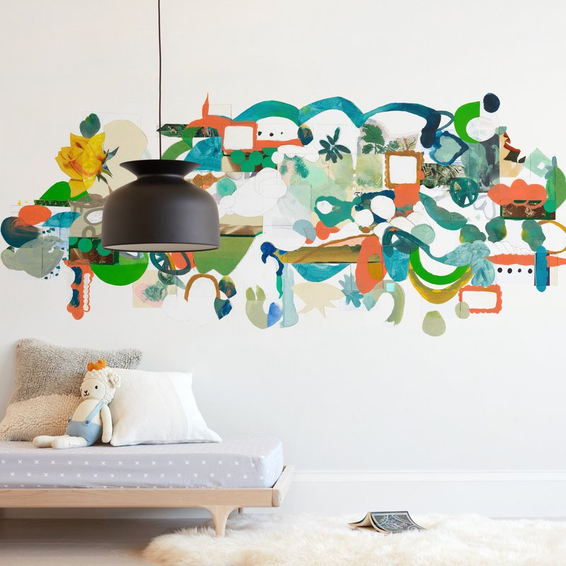 """Green Hills"" - Kids Non-custom Wall Murals by Erin McCluskey Wheeler in beautiful frame options and a variety of sizes."