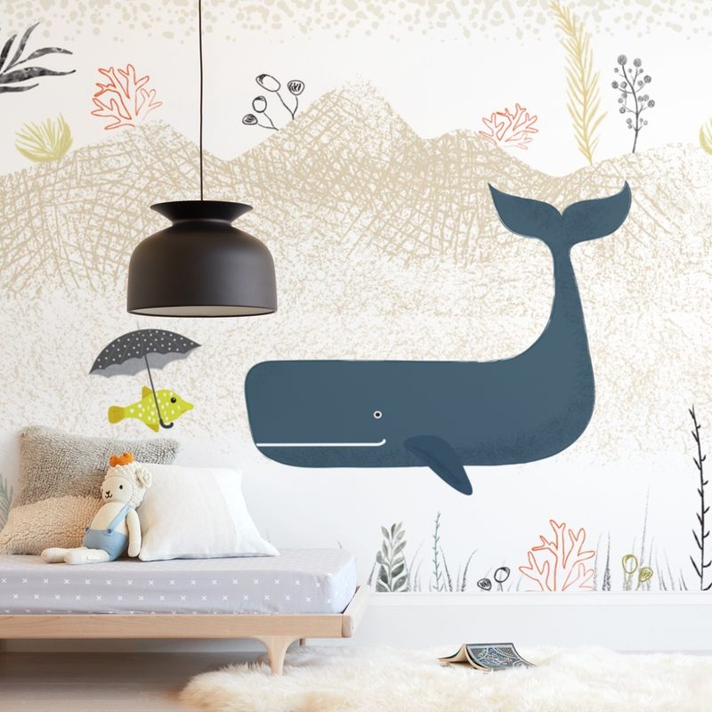 """Small talk"" - Kids Non-custom Wall Murals by Maja Cunningham in beautiful frame options and a variety of sizes."
