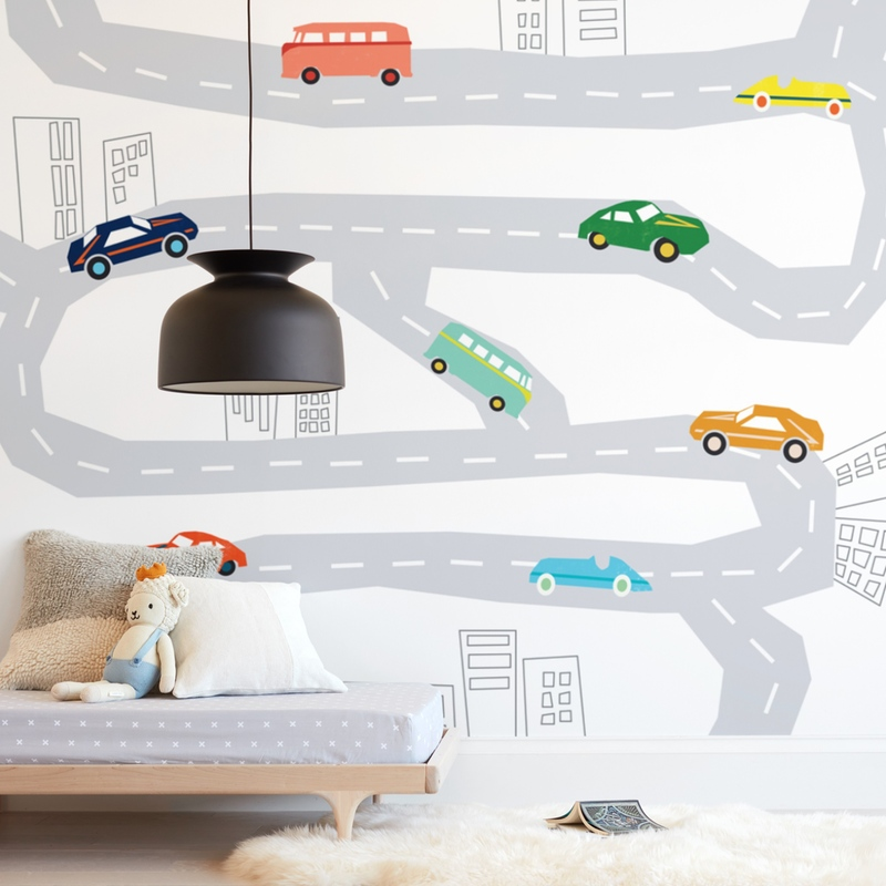 """roads"" - Kids Non-custom Wall Murals by Morgan Kendall in beautiful frame options and a variety of sizes."