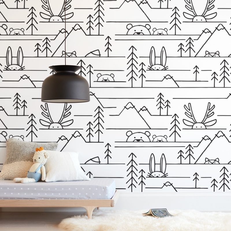 """""""Into the Woods"""" - Kids Non-custom Wall Murals by JeAnna Casper in beautiful frame options and a variety of sizes."""