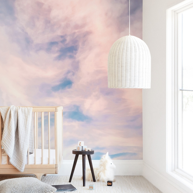 Cotton Candy Sky Wall Mural