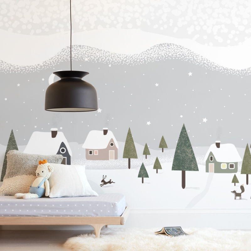 """""""Winter is here"""" - Kids Non-custom Wall Murals by Maja Cunningham in beautiful frame options and a variety of sizes."""