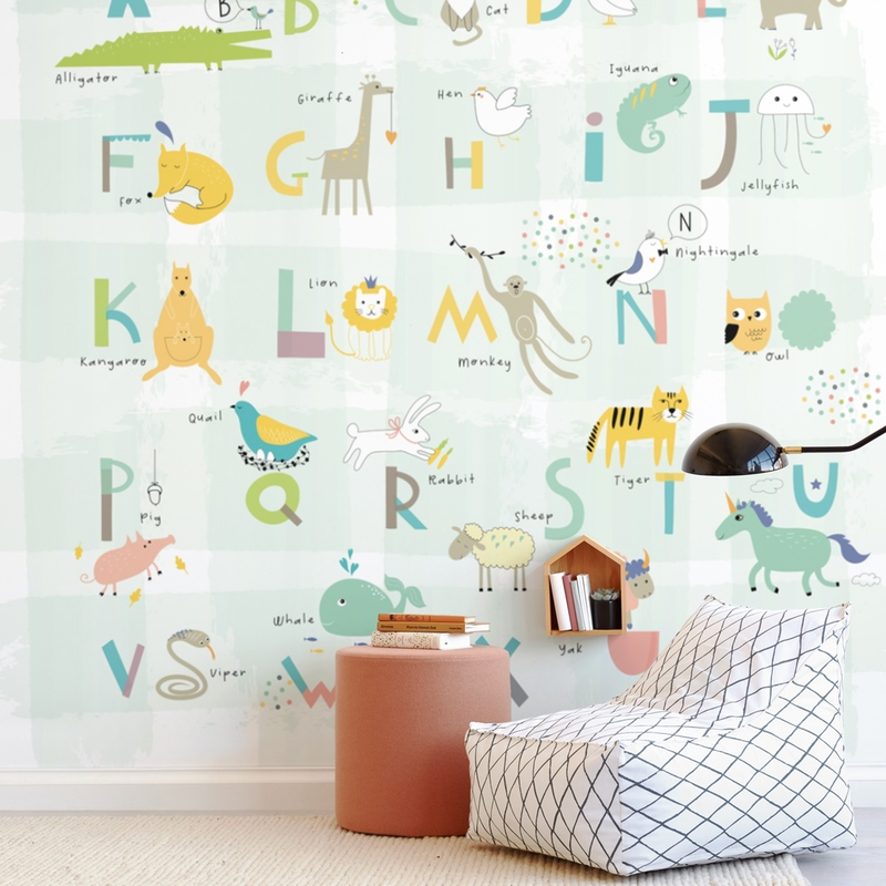 alphabet fun Wall Mural