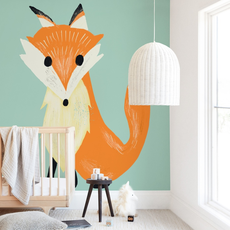 """""""i am foxy"""" - Kids Non-custom Wall Murals by frances in beautiful frame options and a variety of sizes."""