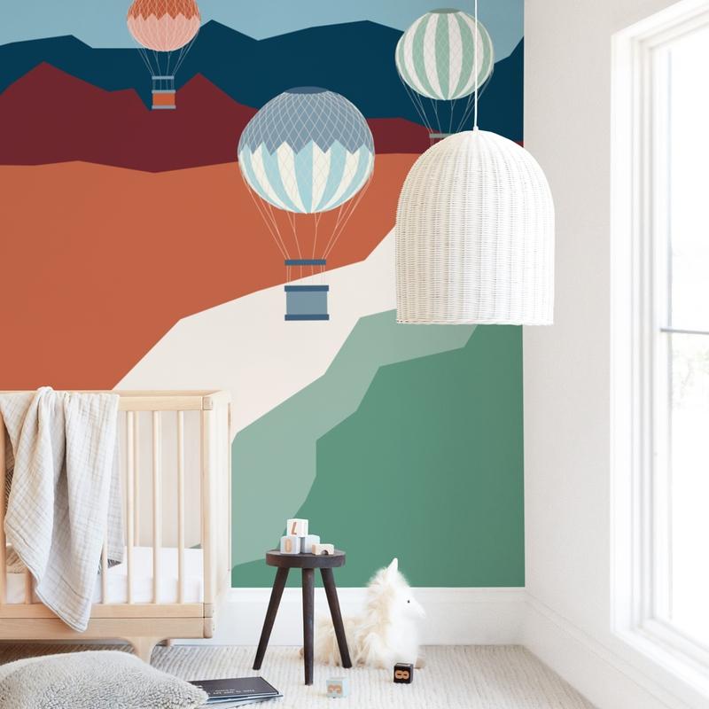 coastal balloons Wall Mural