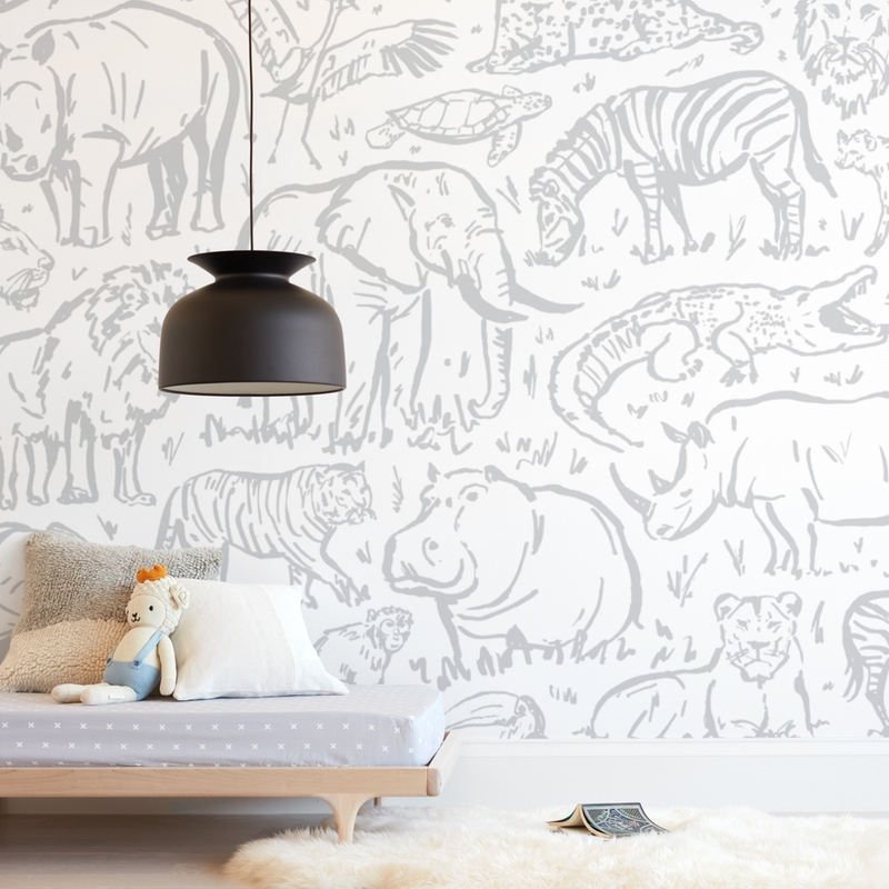 """safari animals"" - Kids Non-custom Wall Murals by Susanne Kasielke in beautiful frame options and a variety of sizes."