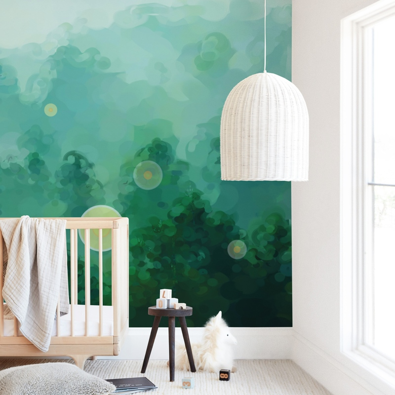 Fireflies Wall Mural