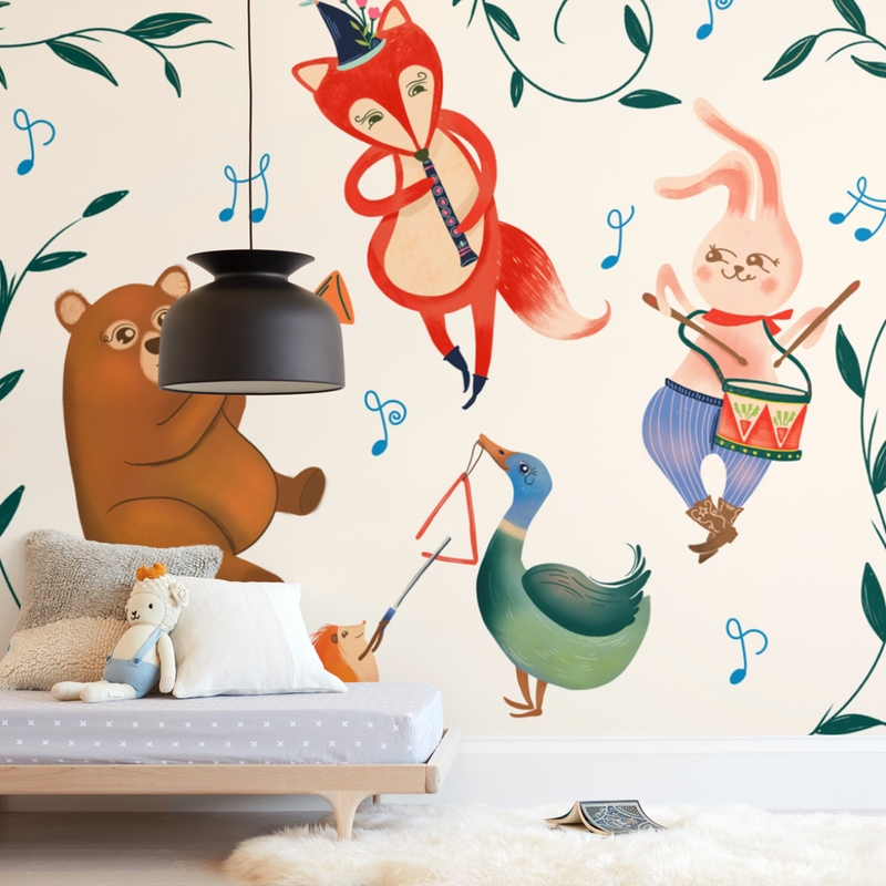 """Party Animal"" - Kids Non-custom Wall Murals by Vivian Yiwing in beautiful frame options and a variety of sizes."