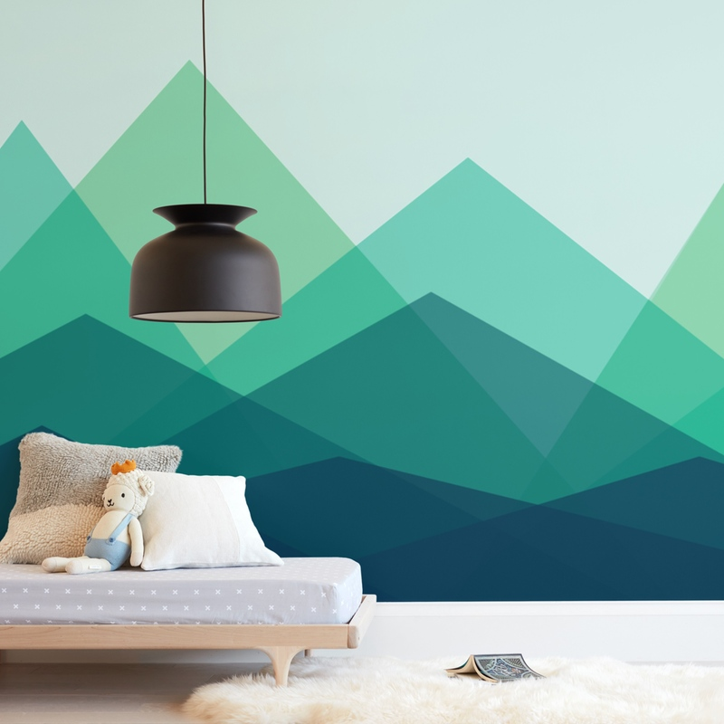 Tranquil Mountains Wall Mural