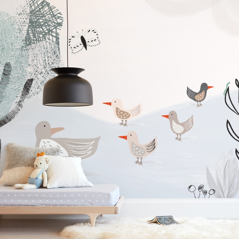 """Look ma, a caterpillar"" - Kids Non-custom Wall Murals by Maja Cunningham in beautiful frame options and a variety of sizes."