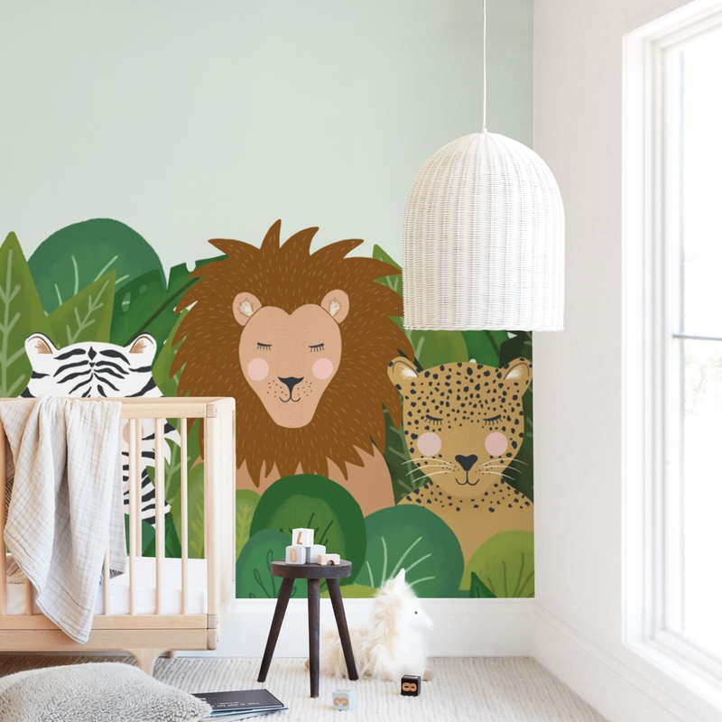 """Be wild"" - Kids Non-custom Wall Murals by Juliana Zimmermann in beautiful frame options and a variety of sizes."