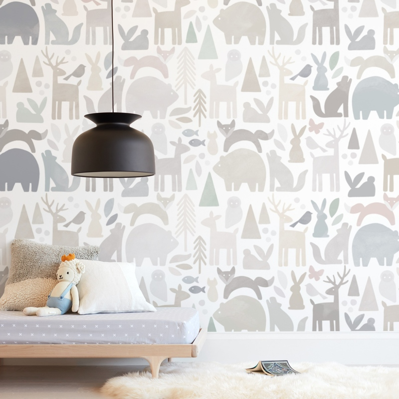 """""""Modern Forest"""" - Kids Non-custom Wall Murals by Jessie Steury in beautiful frame options and a variety of sizes."""