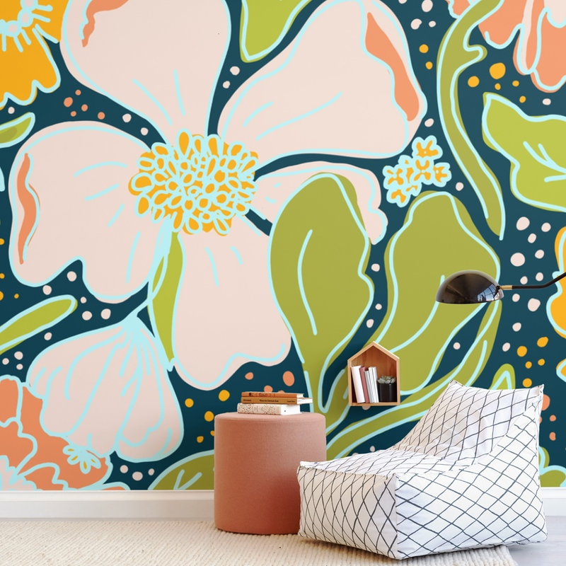Boldly Blooming Wall Mural