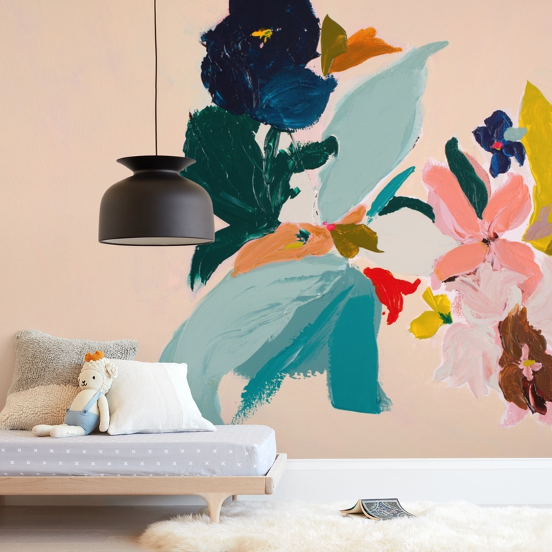 """""""Spring Botanical Series #3"""" - Kids Non-custom Wall Murals by Caryn Owen in beautiful frame options and a variety of sizes."""