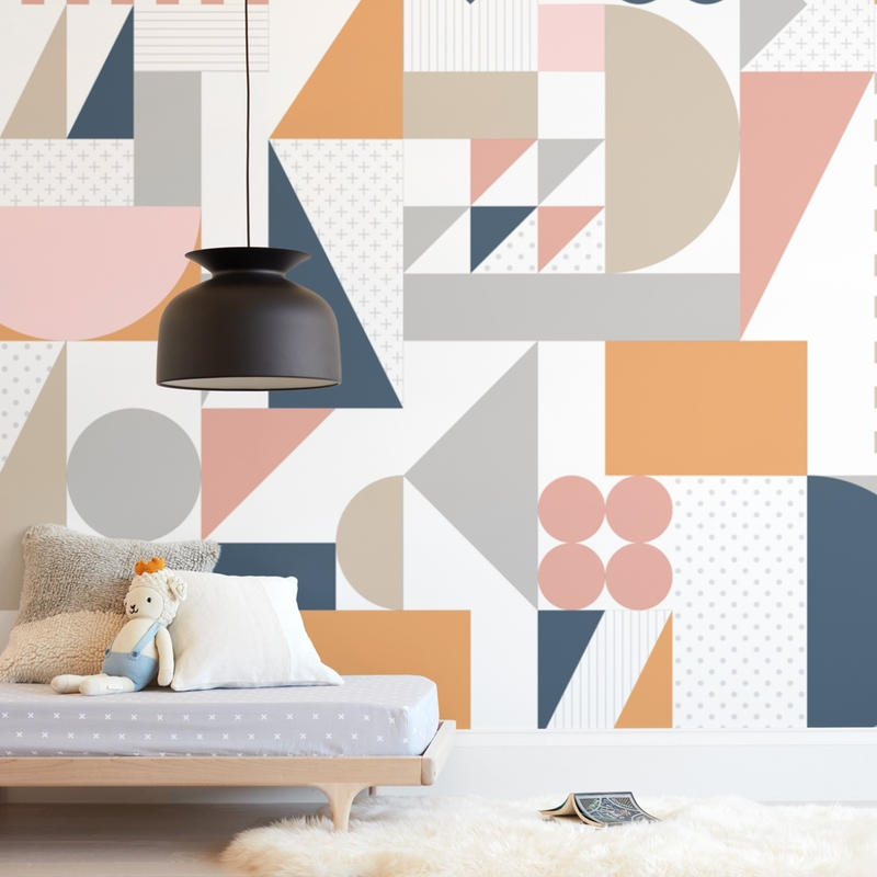 """""""Pattern Play"""" - Kids Non-custom Wall Murals by Jennifer Morehead in beautiful frame options and a variety of sizes."""