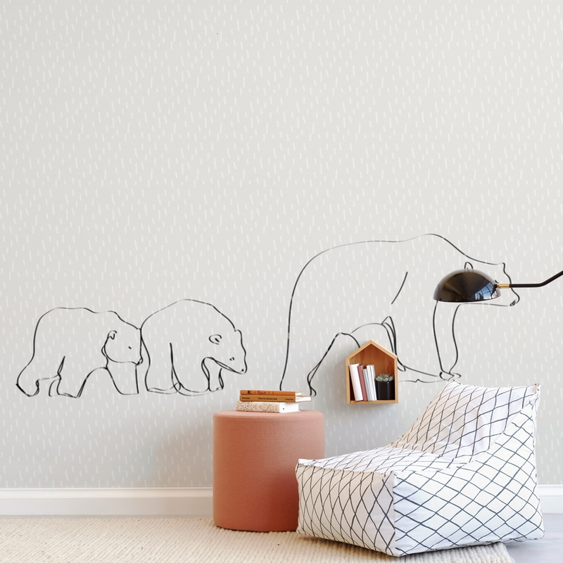 Polar Bears Wall Mural